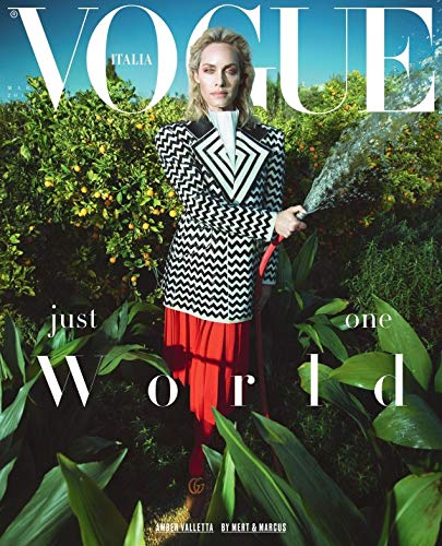 VOGUE ITALIA MARCH 2019 Amber Valletta cover - New copies exclusively available from magazines and more - Vancelette Global Art Acquisitions