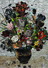 ARTXPUZZLES - Artist Matthew Day Jackson Title: Bouquet of flowers in vase Jigsaw Puzzle Size: 19.75 x 28 (502mm x 711mm) 1000 Jigsaw Puzzle Pieces, ESKA Premium Board. Traditional Paper Jigsaw Puzzle