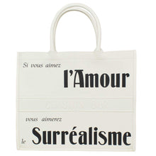 Chrisitan Dior Women'S Christian Dior 'L'Amour Surrealisme' White Calfskin Leather Large Book Tote Bag - Vancelette Global Art Acquisitions