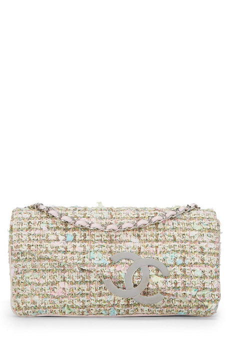 CHANEL Pink Fantasy Tweed Flap Bag (Pre-Owned) - Vancelette Global Art Acquisitions