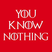 Woman Red You Know Nothing Tshirt - Graphics Tees for Womens | U Know Nothing, S - Vancelette Global Art Acquisitions