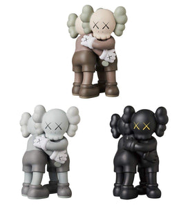 "Margoth Prototype KAWS 11"""" 28cm Huging Together Original Companion Model Art Toys Action Figure Collectible Model Toy for Indoor Outdoor Party Decoration (Black)"