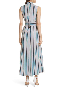 Diane von Furstenberg Women's Striped Sheath Dress Blue 6 - Vancelette Global Art Acquisitions