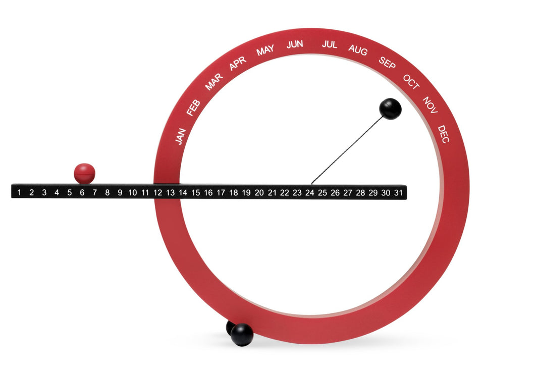 MoMA Small Perpetual Calendar - Red/Black - Vancelette Global Art Acquisitions