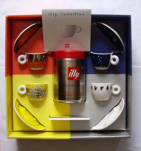 ILLY ART COLLECTION - MICHELANGELO PISTOLETTO - 4 Espresso Cups Gift Set Box - Vancelette Global Art Acquisitions
