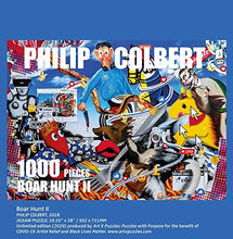 "ARTXPUZZLES - Artist Philip Colbert Title: Boar Hunt II Jigsaw Puzzle Size: 19.75"" x 28"" 1000 Jigsaw Puzzle Pieces ESKA Premium Board Traditional Paper Jigsaw Puzzle"