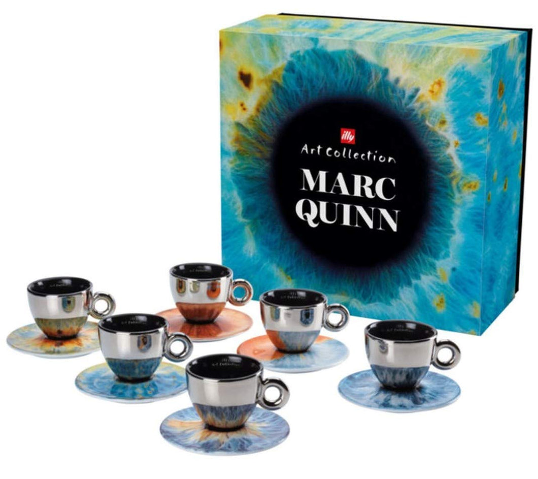 ILLY ART COLLECTION Coffee Set by Marc Quinn - 6 Cappuccino Cup + 6 Saucers - Vancelette Global Art Acquisitions