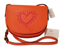 Coach X LIMITED EDITION Keith Haring HEART Leather Shoulder Bag - Vancelette Global Art Acquisitions