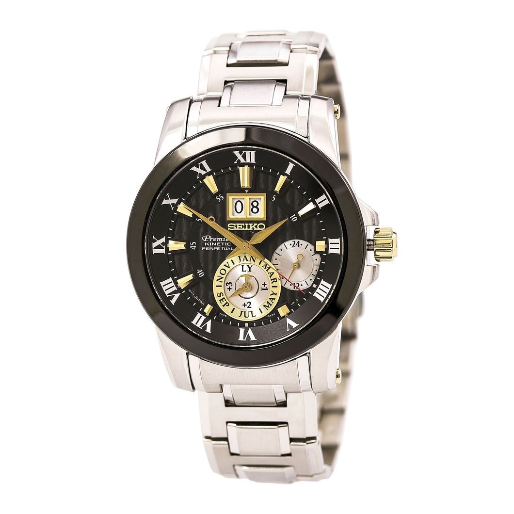 New Seiko SNP129 Premier Kinetic Novak Djokovic Special Edition Men's Watch - Vancelette Global Art Acquisitions
