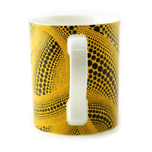 Yayoi Kusama Coffee Mug Cup Yellow  | Japan - Vancelette Global Art Acquisitions