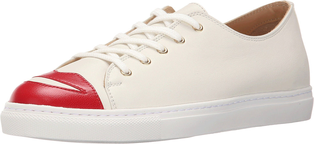 charlotte olympia Women's Kiss Me Sneakers, Off- Off-White Kidskin/Nappa 35 M - Vancelette Global Art Acquisitions