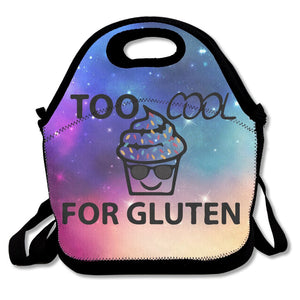 Too Cool For Gluten Free Cupcake Sunglasses Lunch Bag Tote Handbag Lunchbox For School Work Outdoor - Vancelette Global Art Acquisitions