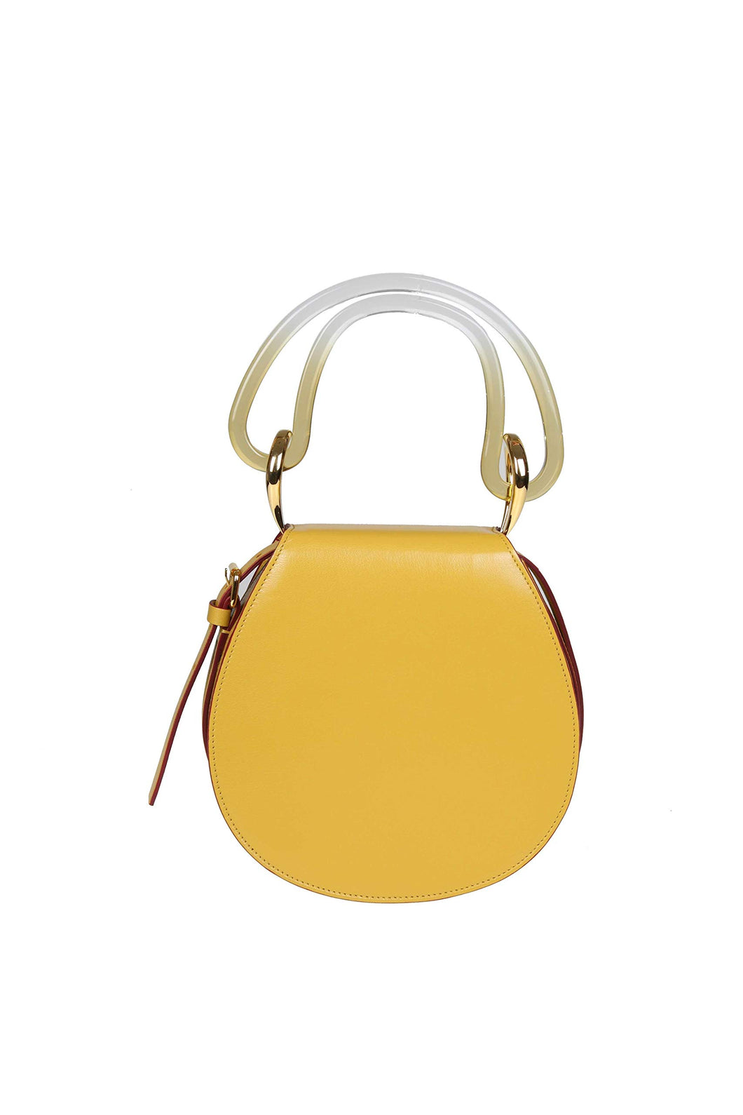 Marni Women's Yellow Leather Handbag - Vancelette Global Art Acquisitions