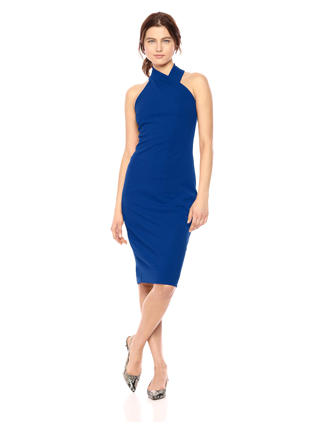 RACHEL Rachel Roy Women's Harland Dress, Silk Blue, M - Vancelette Global Art Acquisitions