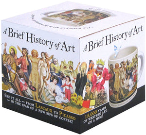 The Unemployed Philosophers Guild Brief History of Art Coffee Mug - History's Greatest Masterpieces from Da Vinci to Koons - Comes in a Fun Gift Box - Vancelette Global Art Acquisitions
