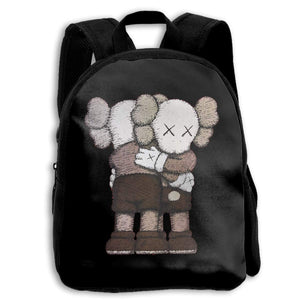 Kaws School Backpack Travel Bag For Boys And Girls