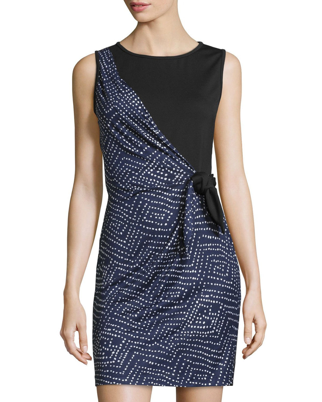 Diane von Furstenberg Dhalia Silk Printed Wrap Dress, Batik Midnight/Black, 12 - Vancelette Global Art Acquisitions