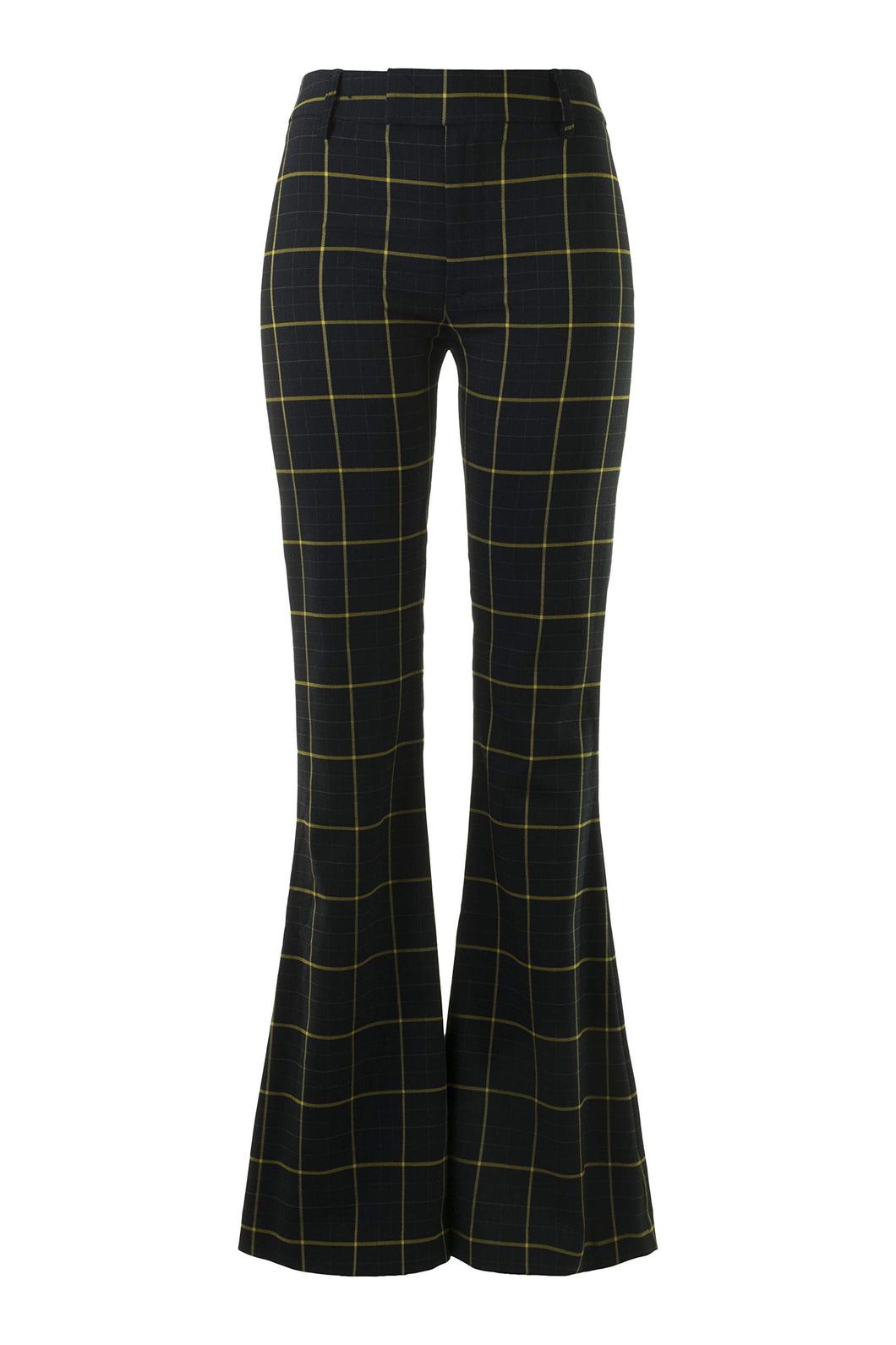 SMYTHE Bootcut Pant in Navy Windowpane (Navy Windowpane, 2)