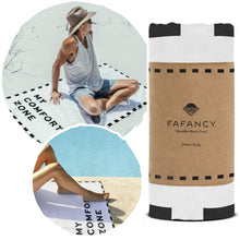 "FAFANCY Microfiber Beach Towel - Large XL Quick Dry Lightweight Compact Sand Proof Absorbent 63""x35"" for Adults and Kids - Best for Travel, Pool, Beach, Swim, Camping - Beach Blanket, Black and White - Vancelette Global Art Acquisitions"