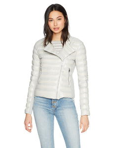 Mackage Women's Ulana Lustrous Short Light Weight Down Jacket, Mineral M - Vancelette Global Art Acquisitions