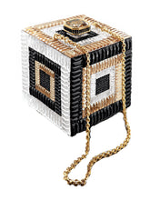 Judith Leiber Couture Cube Be Square Crystal Clutch, Champagne Multi - Vancelette Global Art Acquisitions