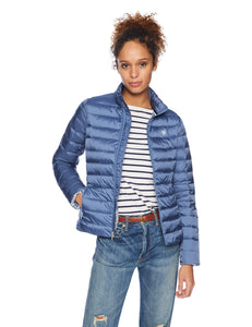 ARIAT Women's Ideal Down Jacket, Grisblue, MED - Vancelette Global Art Acquisitions