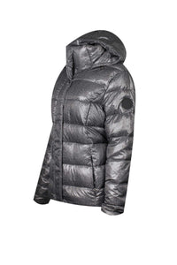 Ralph Lauren Womens Winter Puffer Jacket (X-Large, Salt/Pepper)