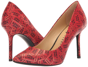 Katy Perry Women's The Sissy Pump, RED Gold, 7.5 M M US - Vancelette Global Art Acquisitions