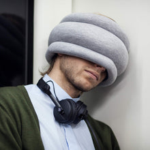 OSTRICH PILLOW Light Travel Pillow for Airplane Neck Support - Travel Accessories for Head Rest, Power Nap on Flight - Blue Reef - Vancelette Global Art Acquisitions