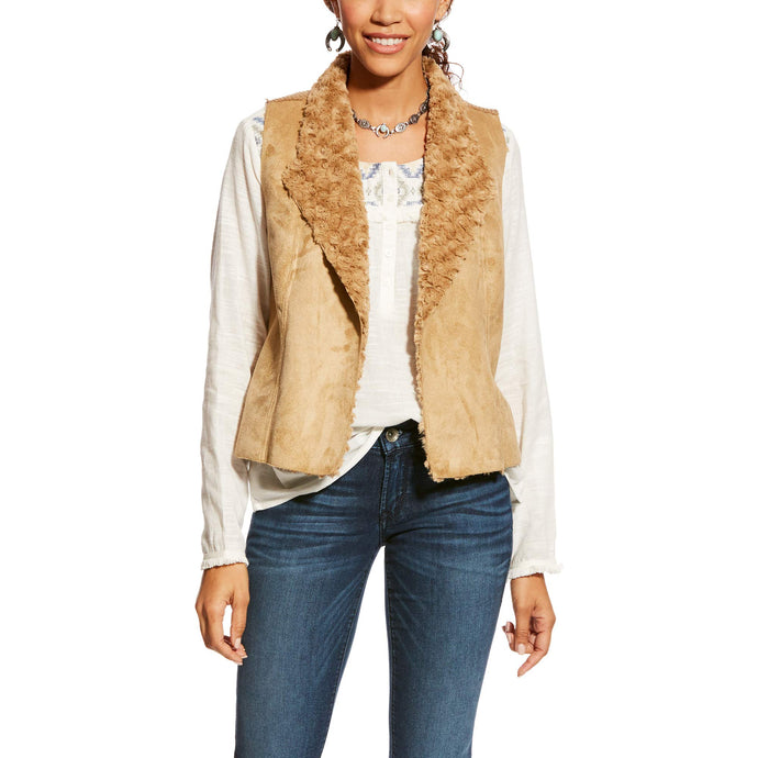 Ariat Women's Alta Vest, Plaza Taupe, SML