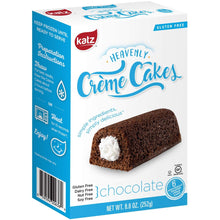 Katz Gluten Free Chocolate Crème Cakes | Dairy, Nut, Soy and Gluten Free | Kosher (1 Pack of 6 Crème Cakes, 8.8 Ounce) - Vancelette Global Art Acquisitions