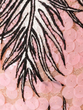 Emilio Pucci Pailette Lace Feather Embroidered Dress Pink - Vancelette Global Art Acquisitions