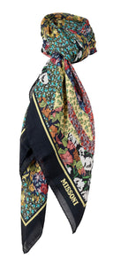 Missoni Multicolor Floral Collage Print Square Scarf for Womens