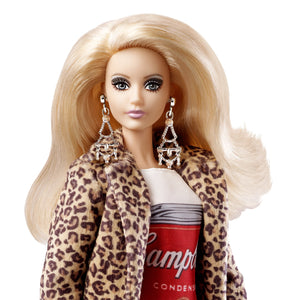 Barbie Collector Andy Warhol Campbell's Soup Can Doll - Vancelette Global Art Acquisitions