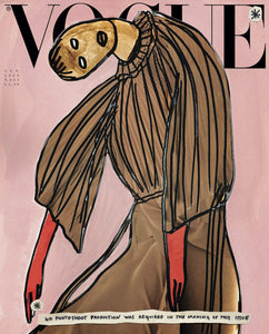 Vogue Italia Magazine (January, 2020) Vanessa Beecroft Illustrated Cover