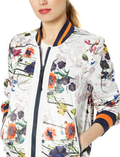 RACHEL Rachel Roy Women's Bomber, Tropical Floral, L - Vancelette Global Art Acquisitions