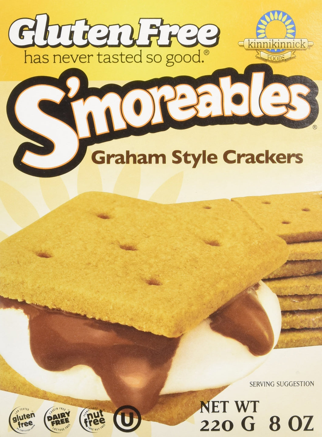 Kinnikinnick S'moreables Graham Style Crackers - 8 oz - Vancelette Global Art Acquisitions
