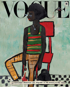 Vogue Italia Magazine (January, 2020) Cassi Namoda Illustration Ambar Cristal Zarzuela in Gucci Cover