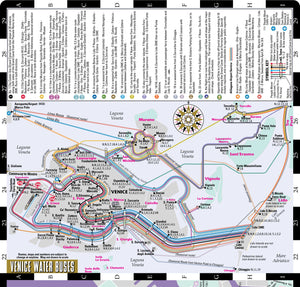 Streetwise Venice Map - Laminated City Center Street Map of Venice, Italy (Michelin Streetwise Maps) - Vancelette Global Art Acquisitions