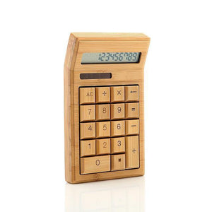 VS Pick | TECH | DIY Handmade Creative Bamboo 12 Bit Solar Energy Calculator Upscale Math Teaching Resources Office School Tool Stationery - Vancelette Global Art Acquisitions