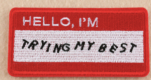 """Hello, I'm Trying My Best"" Sticker: V Series Stickers 
