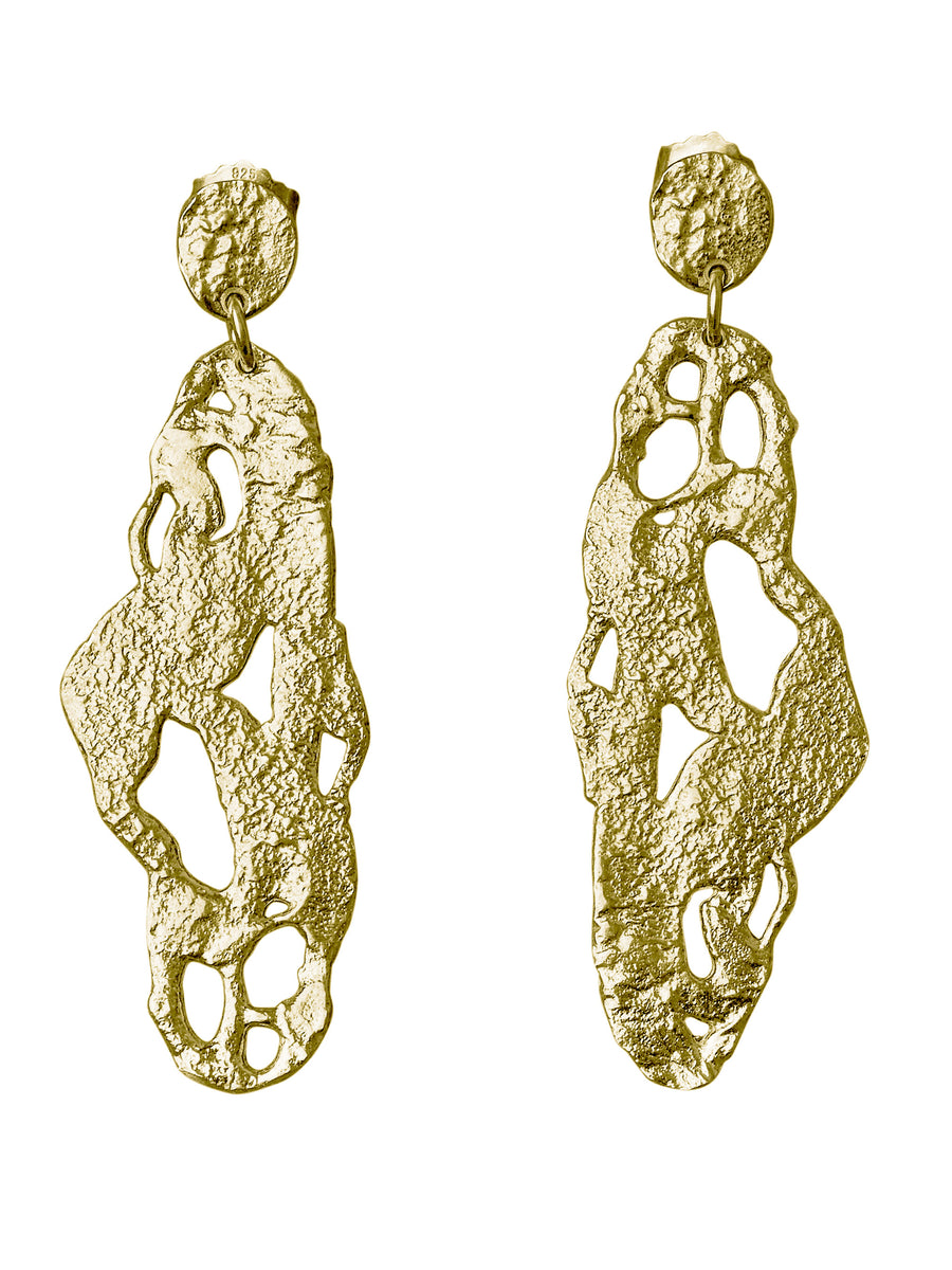 Organic Shapes - Seaweed earrings (long)