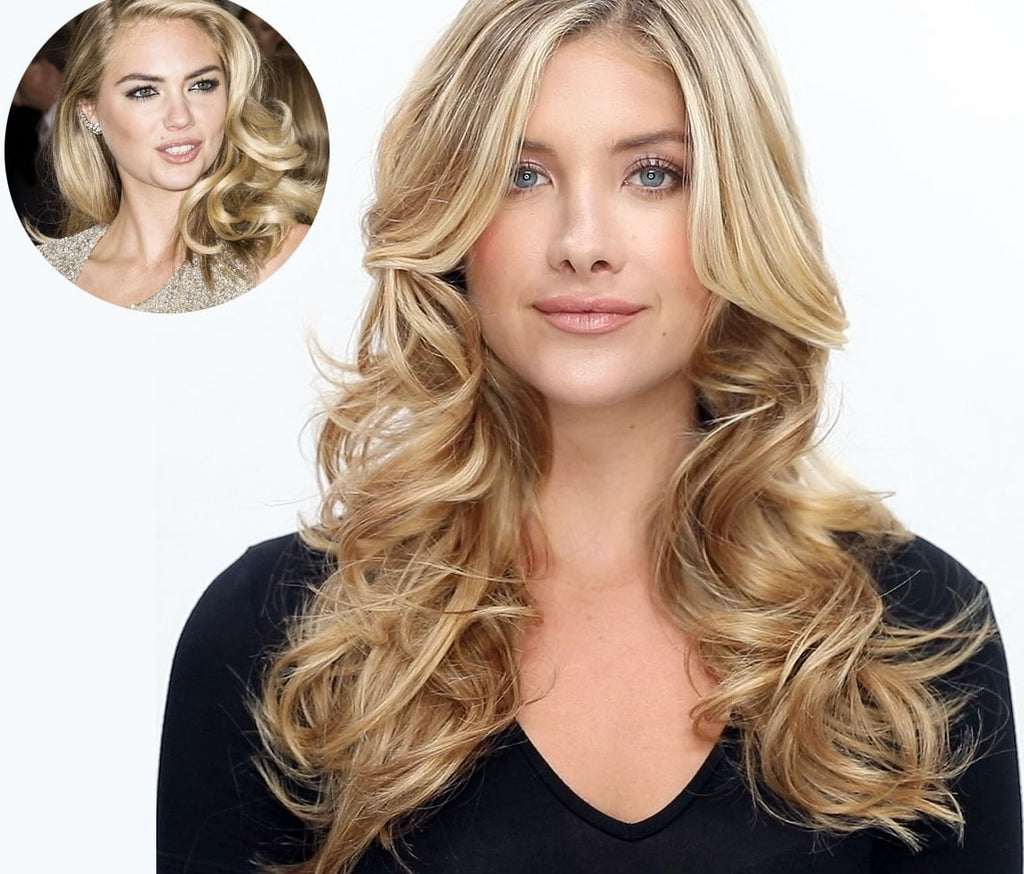 Celeb how to pin curls à la Kate Upton