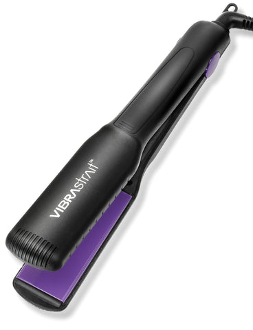 "VIBRASTRAIT ESSENTIAL 1.5"" VIBRATING FLAT IRON w/ Free Travel Pouch"