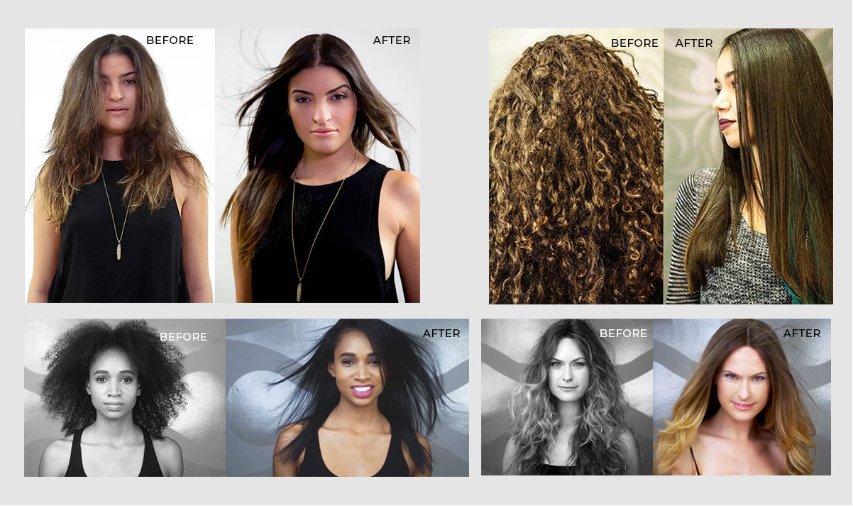 The results: before & after Supersilk Professional image