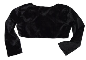 Faye Long Sleeve Shrug in Black Velvet_Kids wear