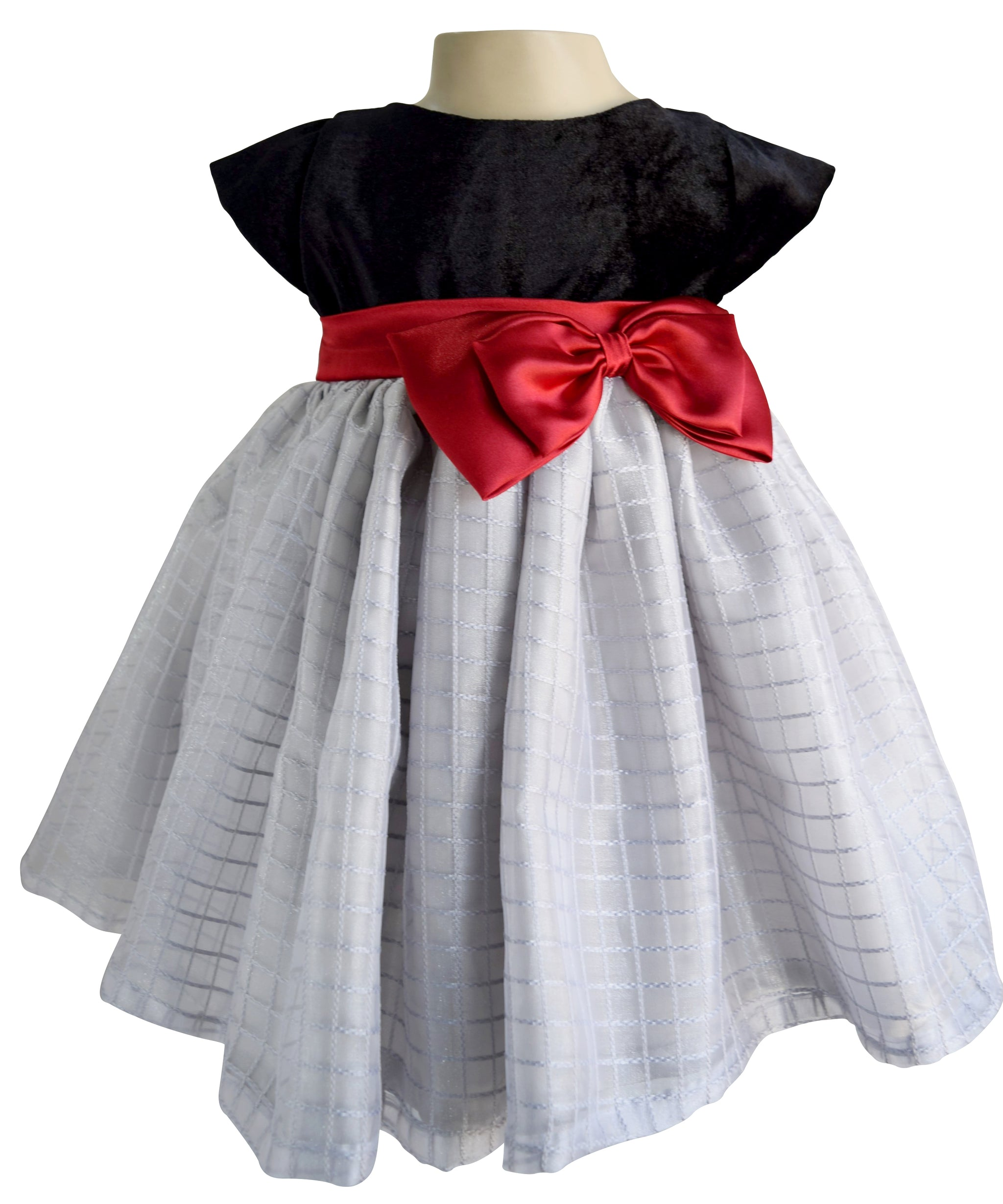 Kids Wear Faye Black Grey Tissue Dress