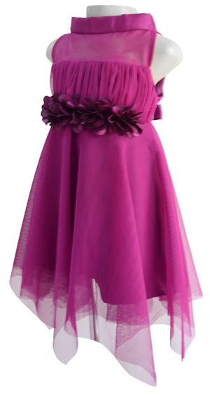 Dress for girls_Faye Wine High Neck Dress