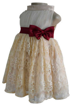 Kids Dresses_Faye Champagne Lace Dress