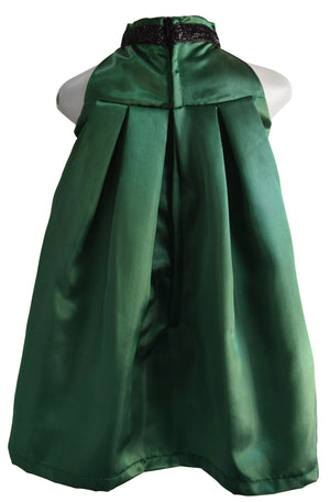 Faye Forest Green Kids Dress